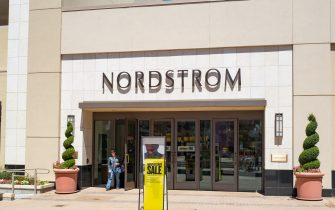 Nordstrom department store, with logo and signage, in the upscale Broadway Plaza shopping center in downtown Walnut Creek, California, July 30, 2017. (Photo by Smith Collection/Gado/Getty Images)