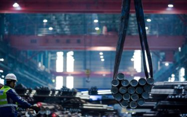 ANHUI, CHINA - DECEMBER 02: (CHINA MAINLAND OUT)The Baowu special steel sells well at home and abroad on 02th December, 2020 in Maanshan,Anhui,China(Photo by TPG/Getty Images)