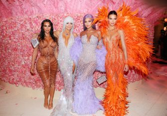 NEW YORK, NEW YORK - MAY 06: (EXCLUSIVE COVERAGE) Kim Kardashian West, Jennifer Lopez, Kylie Jenner, and Kendall Jenner attend The 2019 Met Gala Celebrating Camp: Notes on Fashion at Metropolitan Museum of Art on May 06, 2019 in New York City. (Photo by Kevin Tachman/MG19/Getty Images for The Met Museum/Vogue)