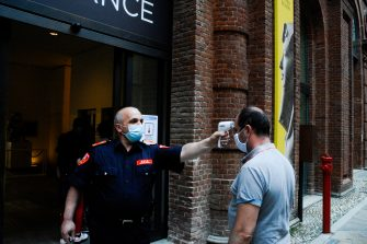 Reopening of the Egyptian Museum after the lockdown due to the Coronavirus Covid-19 pandemic on the Italian Republic Day (Festa della Repubblica) in Turin, Italy, 02 June 2020. ANSA/EDOARDO SISMONDI