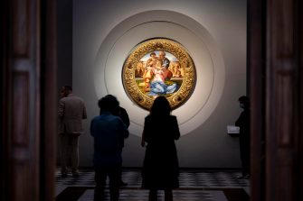 A inside view of the Uffizi gallery ahead of its reopening, in Florence, Italy, 02 June 2020. Florence's famed Uffizi gallery will reopen on Wednesday June 3, with new security provisions to welcome visitors. ANSA/CLAUDIO GIOVANNINI