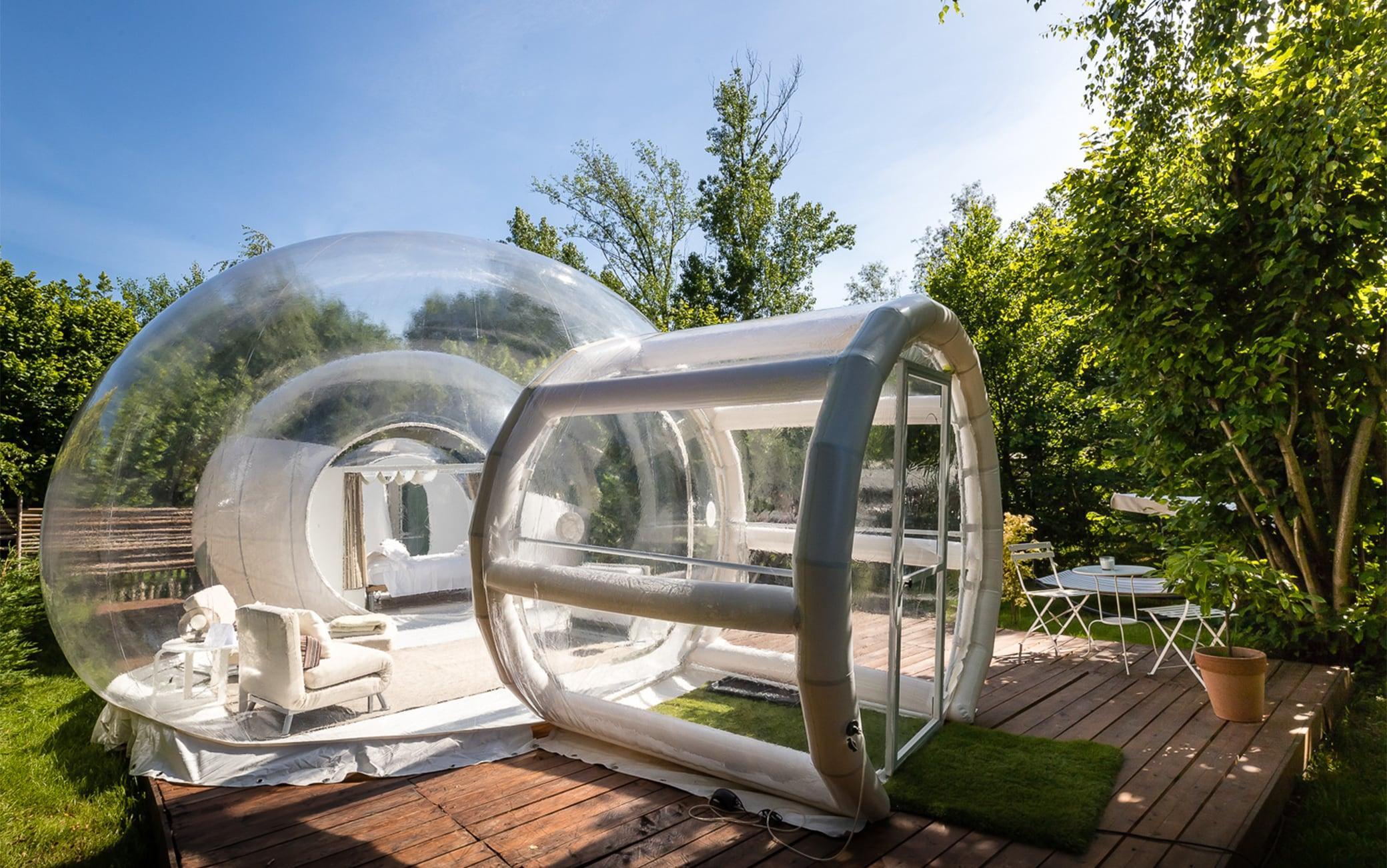 La 'Bubble room' del Relais dei Cesari, sul lago Maggiore