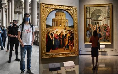 Coronavirus, riapre la pinacoteca di Brera a Milano. FOTO
