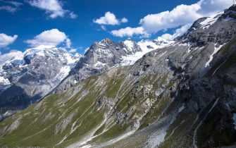 ITALY - JULY 11:  The Ortler Alps from The Stelvio Pass, Passo dello Stelvio, Stilfser Joch, in the Eastern Alps in Northern Italy (Photo by Tim Graham/Getty Images)