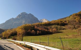 This picture shows the Gran Sasso mountain where is located the Gran Sasso National Laboratory (LNGS) on November 14, 2011. Scientists who threw down the gauntlet to physics by reporting particles that broke the Universe's speed limit said on late October 2011 they were revisiting their contested experiment with test showing that neutrinos had been measured along a 732-kilometre (454-mile) trajectory between the European Centre for Nuclear Research (CERN) in Switzerland and the Gran Sasso National Laboratory in Italy.   AFP PHOTO / ALBERTO PIZZOLI (Photo credit should read ALBERTO PIZZOLI/AFP via Getty Images)