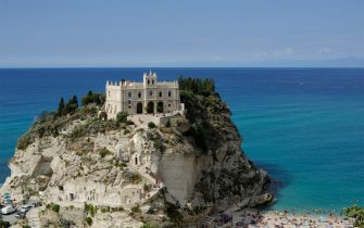 TROPEA, ITALY - SEPTEMBER 09: Church of Santa Maria dell'Isola, Calabria on September 09, 2019 in Tropea, Italy. Tropea is a small town on the east coast of Calabria, in southern Italy.  (Photo by Saverio Marfia/Getty Images)