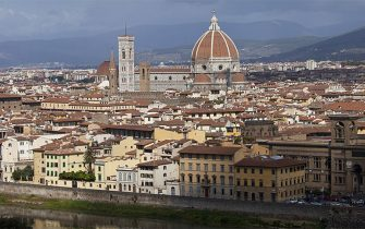 ITALY - SEPTEMBER 19:  The City of Florence, Il Duomo di Firenze, Cathedral of Florence, and the River Arno, Tuscany, Italy  (Photo by Tim Graham/Getty Images)