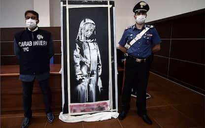 L'opera di Banksy rubata al Bataclan sarà esposta a Roma