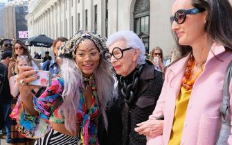 NEW YORK, NY - SEPTEMBER 14:  Iris Apfel attends the Naeem Khan fashion show during New York Fashion Week: The Shows at The Arc, Skylight at Moynihan Station on September 14, 2016 in New York City.  (Photo by Mike Coppola/Getty Images for New York Fashion Week: The Shows)