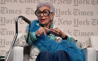 MIAMI, FL - DECEMBER 03:  Iris Apfel, Design Entrepreneur speaks onstage at the The New York Times International Luxury Conference at Mandarin Oriental on December 3, 2014 in Miami, Florida.  (Photo by Larry Busacca/Getty Images for The New York Times International Luxury Conference)