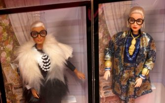"""PARIS, FRANCE - NOVEMBER 06: The Barbie Signature Doll Styled by Iris Apfel is seen during the """"Barbie's Dream House"""" at Galeries Lafayette Haussmann on November 06, 2019 in Paris, France. (Photo by Kristy Sparow/Getty Images)"""