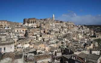 MATERA, ITALY - FEBRUARY 13: A general scenes of the 'Sassi di Matera'. Matera is a city in Southern Italy which is the 2019 European Capital of Culture on February 13, 2019 in Matera, Italy. (Photo by Vittorio Zunino Celotto/Getty Images)