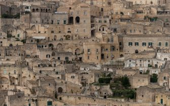 MATERA,ITALY - OCTOBER 23:  Views of the city of Matera on October 23, 2018 in Matera,Italy. The city of Matera, in the province of Basilicata in Puglia, Italy, which will be the 2019 European Capital of Culture. It is one of the oldest continually-inhabited cities in the world, dating from at least the tenth-century BC. (Photo by Andrew Hasson/Getty Images)