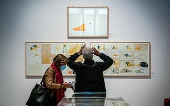 Milano - Triennale, mostra di Enzo Mari a cura di Hans Ulrich Obrist (Marco Passaro/Fotogramma, Milano - 2020-10-15) p.s. la foto e' utilizzabile nel rispetto del contesto in cui e' stata scattata, e senza intento diffamatorio del decoro delle persone rappresentate