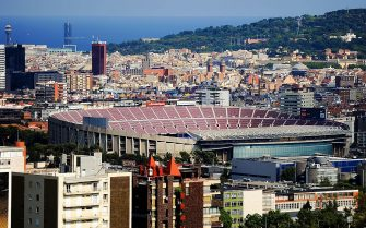 BARCELONA, SPAIN - AUGUST 18:  A general view of the Camp Nou Stadium prior to the La Liga match between FC Barcelona and Levante UD on August 18, 2013 in Barcelona, Spain.  (Photo by David Ramos/Getty Images)