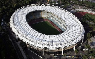 ROME - OCTOBER 23:  The picture shows an aerial view of the Olympic Stadium on October 23, 2007 in Rome, Italy.  (Photo by Gareth Cattermole/Getty Images)