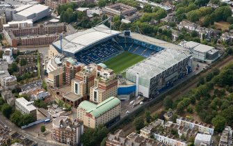 Stamford Bridge Football Ground, London, 2006. Aerial view of the home of Chelsea Football Club. Artist: Historic England Staff Photographer. (Photo by English Heritage/Heritage Images/Getty Images)