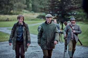 Picture shows: Princess Diana (EMMA CORRIN) and Prince Philip (TOBIAS MENZIES). Filming Location: Ardverikie Estate, Kinloch Laggan Newtonmore Inverness-shire