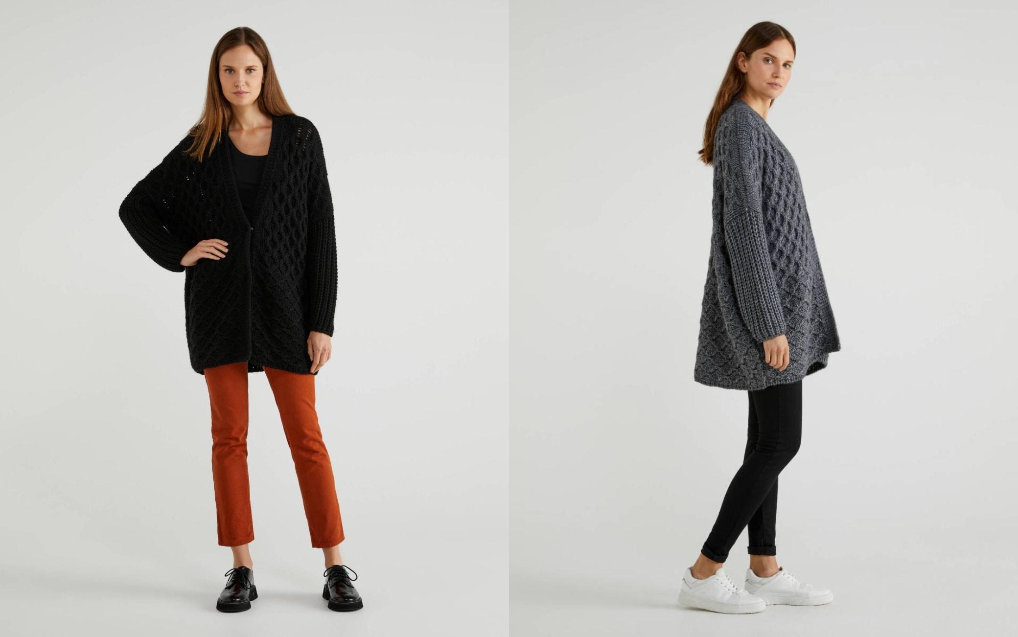 Cappotto in lana e alpaca Benetton
