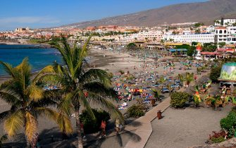 Playa de Torviscas beach, Playa de las Americas, Tenerife, Canary Islands, 2007. (Photo by Peter Thompson/Heritage Images/Getty Images)