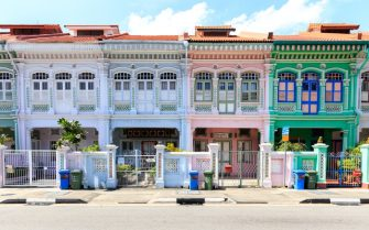 Peranakan houses are located at Koon Seng Road, Singapore. Near Seng road at the Joo Chiat district . Colorful houses and historical building is a mix of different architecture ( Malay, Chinese , Indian and Western architecture culture).