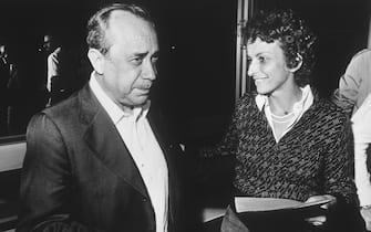 Emma Bonino con Leonardo Sciascia in una foto del 1980. ANSA