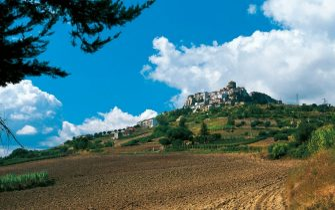 View of Acerenza, Basilicata, Italy.
