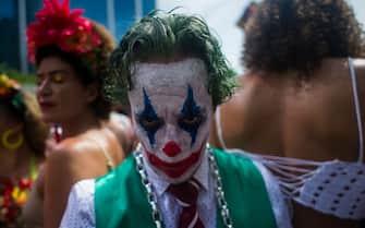 RIO DE JANEIRO, BRAZIL - FEBRUARY 16: People participate in the Cordao do Boitata carnival celebration in the Centro City neighborhood on February 16, 2020 in Rio de Janeiro, Brazil. (Photo by Bruna Prado/Getty Images)