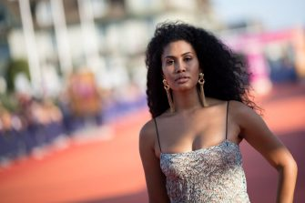 US actress Leyna Bloom poses on the red carpet before the award ceremony during the 45th Deauville US Film Festival, on September 14, 2019 in Deauville, northern France (Photo by LOIC VENANCE / AFP)        (Photo credit should read LOIC VENANCE/AFP via Getty Images)