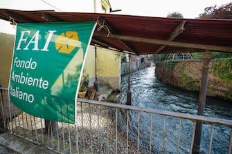 Giornate Fai tra i canali demaniali a Caluso, Torino, 18 ottobre 2020 ANSA/TINO ROMANO