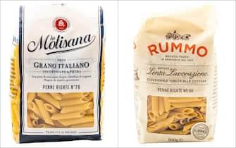 Confezioni di pasta di La Molisana e Rummo