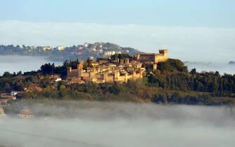 Una veduta del borgo di Gradara, in provincia di Pesaro-Urbino, nelle Marche