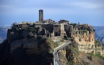 Una veduta di Civita di Bagnoregio (Viterbo), nel Lazio