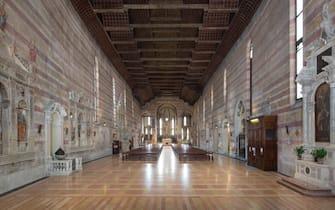 La chiesa degli Eremitani dipinta dal Mantegna