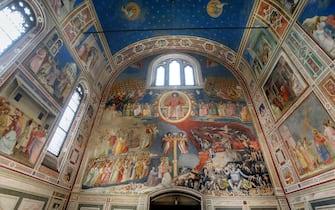 Cappella degli Scrovegni, affreschi di Giotto. Assegnazione del secondo Sito Unesco per la citta di Padova.    24 Luglio 2021. Padova  ANSA/NICOLA FOSSELLA