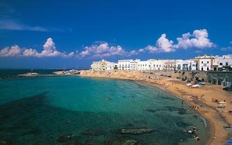 La Purita, beach at Gallipoli, Salento, Apulia, Italy.