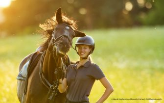 The Comedy Pet Photography Awards 2021 Jakub Gojda Praha Czech Republic Title: ,,....that was a good one!'':D Description: This photo was taken by accident during the photography of my ex-girlfriend with her beloved mare. For this cheerful moment, I thank the fly that sat on the horse's nose and he instinctively shook his head. And so it seems that the humor between a horse and a woman is definitely not missing :)). Animal: Horse Location of shot: Czech republic