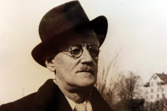"""DUBLIN, IRELAND:  An undated photo of Irishman James Joyce, author of one of Dublin's most famous literary masterpieces 'Ulysses'.  Dublin is hosting a world-class, five-month long festival to celebrate the 100th anniversary of Joyce's book.  On 16 June 1904, now known as """"Bloomsday"""",  Leopold Bloom and Stephen Dedalus each took their epic journeys through Dubln.    (Photo credit should read FRAN CAFFREY/AFP via Getty Images)"""