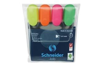 Evidenziatori Schneider Job. Astuccio 4 colori