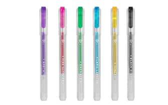 Set 6 mini penne glitterate
