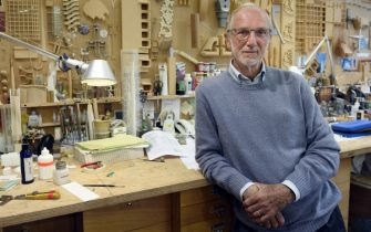 Italian architect Renzo Piano, who designed the new Palais de Justice (courthouse) of Paris, poses at his workshop in Paris on May 7, 2015.  AFP PHOTO / ERIC FEFERBERG        (Photo credit should read ERIC FEFERBERG/AFP via Getty Images)