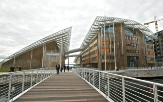 OSLO, NORWAY - SEPTEMBER 27: . A general view of the Astrup Fearnley Museum on September 27, 2012 in Oslo, Norway. (Photo by Ragnar Singsaas/WireImage)