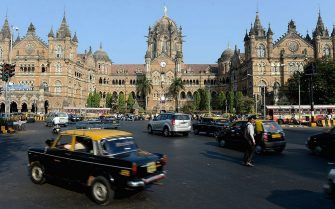 MUMBAI, INDIA - NOVEMBER 21:  Chhatrapati Shivaji Terminus on November 21, 2012 in Mumbai, India.  (Photo by Gareth Copley/Getty Images)