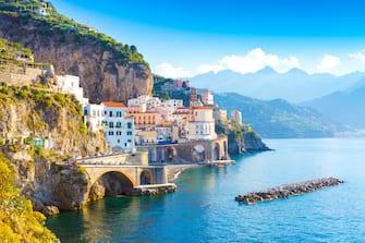 Nell'immagine Amalfi, in Costiera Amalfitana
