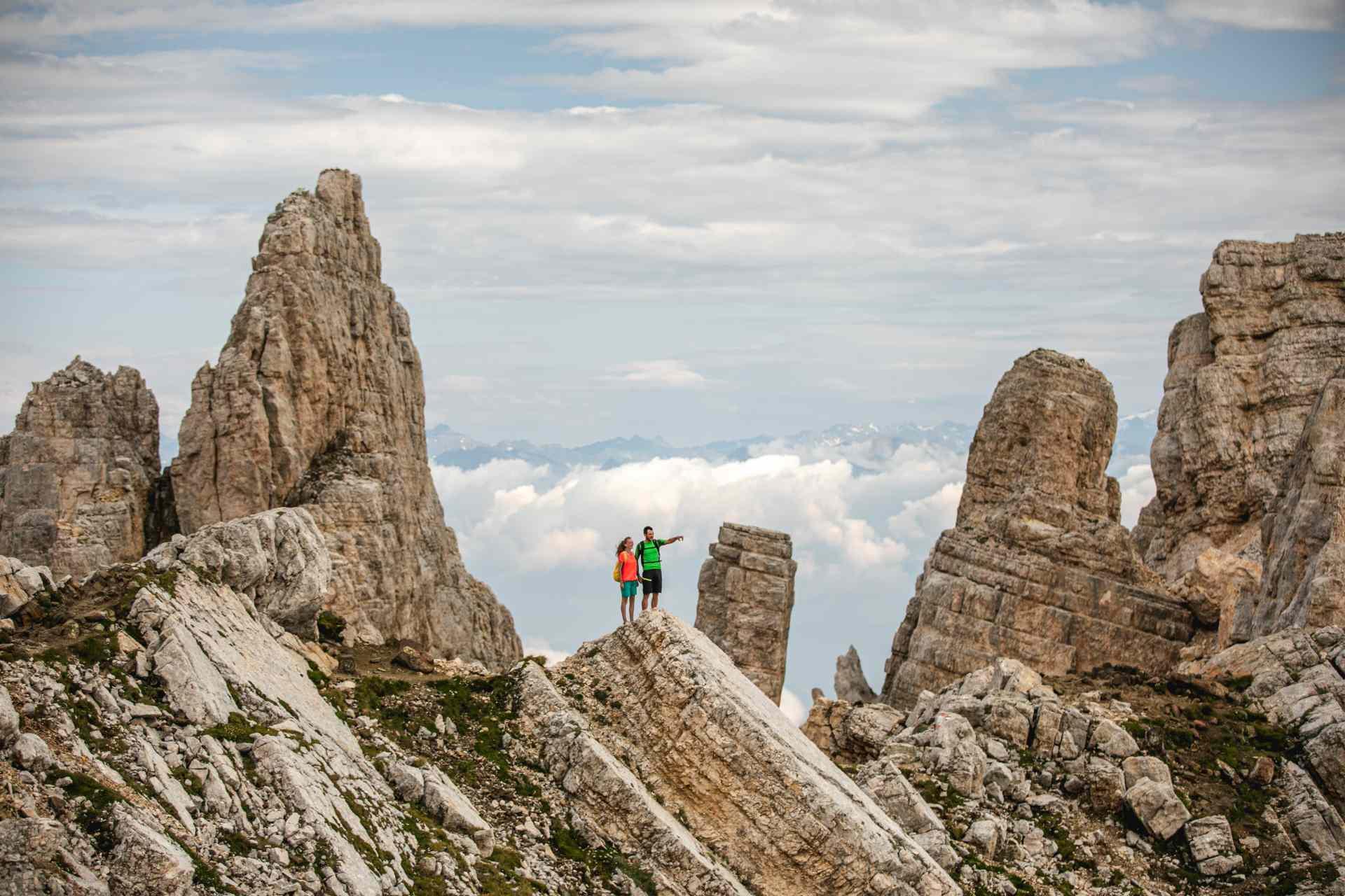 Il Latemar, uno dei gruppi montuosi delle Dolomiti in Alto Adige
