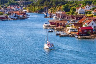 In the image a glimpse of the coast of Bohuslän in Sweden