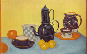 """'Still Life with Coffee Pot', 1888, (1937).  From """"French Painting and the Nineteenth Century"""", by James Laver. [B. T. Batsford Ltd, London, 1937]"""