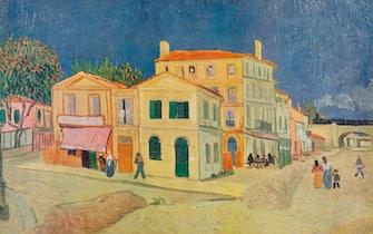 La Maison De Vincent A Arles', 1888. From Van Gogh Paintings, introduction by Graham Reynolds. (Lindsay Drummond, Ltd & Les Editions du Chene, London & Paris, 1947). Artist Vincent van Gogh, Lindsay Drummond Ltd.(Photo by The Print Collector/Getty Images)