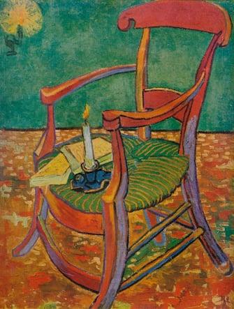 Le Fauteuil De Gauguin', 1888. From Van Gogh Paintings, introduction by Graham Reynolds. (Lindsay Drummond, Ltd & Les Editions du Chene, London & Paris, 1947). Artist Vincent van Gogh.(Photo by The Print Collector/Getty Images)