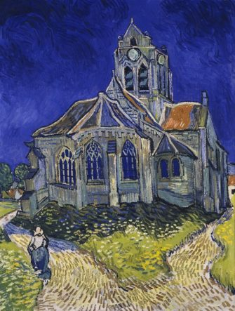 The Church in Auvers-sur-Oise, View from the Chevet, 1890. Artist: Gogh, Vincent, van (1853-1890) (Photo by Fine Art Images/Heritage Images/Getty Images)